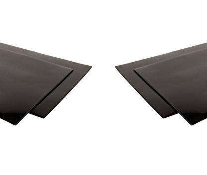 PVC mudflaps set of 4 black